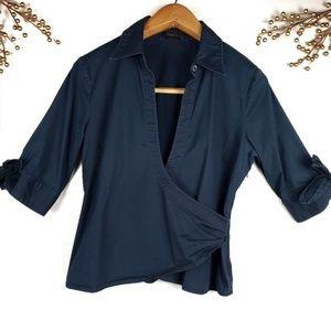 BCBGMaxazria crossed shirt sz L